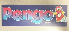 Pengo arcade marquee sticker. 3 x 10. (Buy any 3 of my stickers, Get One Free!)