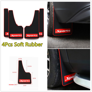 4Pcs Soft Rubber Car Front+Rear Mudflaps Mud Flap Splash Guard Fender Protector