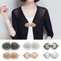 Women Crystal Rhinestone Scarf Cardigan Shawl Shirt Pin Clasp Clip Collar Holder
