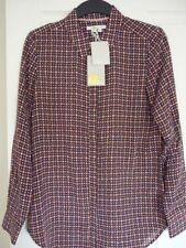 Boden The Silk Shirt UK 16 EU 42 US 12 WA786 Navy