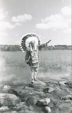 Indian Chief in Ceremonial Headdress RPPC * ca 1950   L.L. Cook Co.