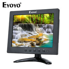 """Mini 8"""" IPS Monitor Video Audio AV BNC VGA HDMI Ypbpr Built In Speaker For CCTV"""