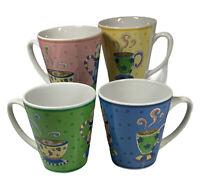 RIVIERA VAN BEERS BY SIGNATURE Coffee Shop TEA MUG CUPS. Set Of 4.