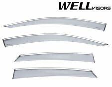 For 2016-UP Honda Civic Sedan WellVisors Side Window Visors W/ Chrome Trim