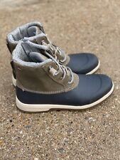 Sperry Maritime Repel Boots Grey Size 8.5 Women's Duck Rain