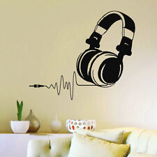 Vinyl Wall Decals DJ Headphones Audio Music Pulse Sign Decal Art Mural Z733