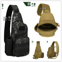 Men's Tactical Sling Chest Crossbady Pack Bag Molle Daypack Outdoor Bag X216