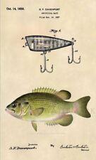 Original Rock Bass Fishing Lure US Patent Art Print -Vintage Bass Fishing Art 40