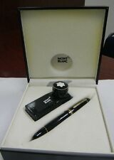 montblanc meisterstuck 149 18k gold nib fountain pen with ink and box