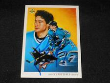 San Jose Sharks Pat Falloon Signed 1992/93 UD Upper Deck Card #19  TOUGH  SR