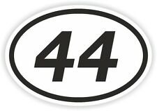 44 FORTY-FOUR NUMBER OVAL STICKER bumper decal motocross motorcycle Aufkleber