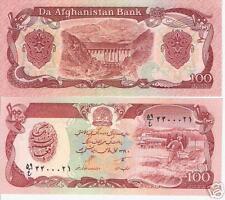 Afghanistan Billet 100 Afghanis 1980 BEN LADEN UNC Neuf