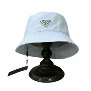 Hot White Nylon Bucket Hat P-ra-da New With Tags Free Shipping Brand Without Box