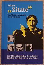 JOKERS ZITATE von Thamas von Aquin bis Oscar Wilde 572x gebunden BUCH Hardcover