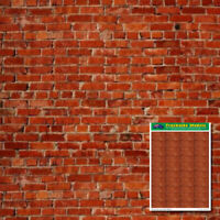 HO Scale Printed Card Sheets - 2 x A4 Red Brick Sheets on 200gsm - TSPCS1