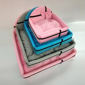 Pet Bed Cat Dog Waterproof Cushion Nest Bed Pillow Mattress Set Warm Kennel S/M