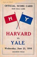 Harvard Vs. Yale- 1916 Official Score Card