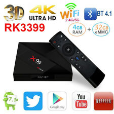 X99 TV Box Android 7.1 RK3399-6 cores 64-bit 4GB+64GB Dual WIFI 4K Media player