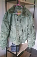 Knox Armory Alpha Industries Sz L  Military Flying Bomber Jacket Olive