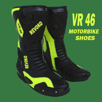 VR 46 Valentino Rossi Motorcycle Custom Made Racing Shoe Boots CE