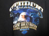 2001 Harley Davidson Sturgis Motorcycle Rally T Shirt, Bald Eagle, Wolf, Sz XL