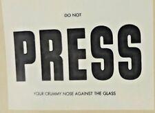 1960S COMIC FAKE REPORTER 'PRESS' CAR PASS AUSSIE JOKE DECAL STICKER NM!!!