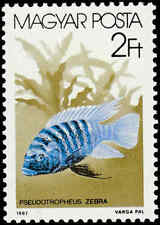 Scott # 3053 - 1987 - ' Pseudotropheus Zebra Fish '