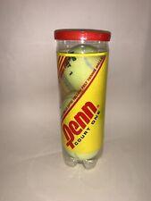 Can Of 3 Brand New Penn Court One Tennis Balls Optic Yellow Felt