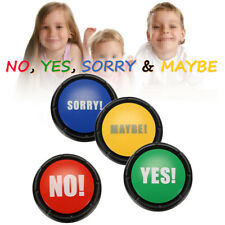 4Pcs/Set 85db YES & NO & SORRY & MAYBE Taking Sound Button Event & Party Tools