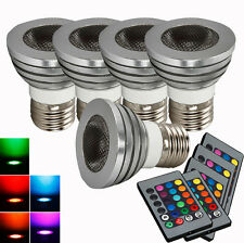 Lot5 5W Home Safe Light Bulb High Quality 85~265V RGB Remote Control E27 New