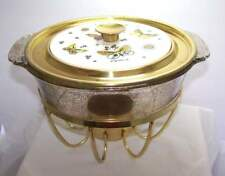 VTG Georges Briard - Fire King Butterfly Lid Gold Speckle Casserole Chafing Dish