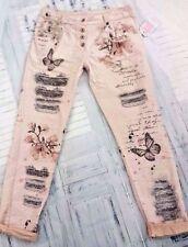 Hosengröße 40 stonewashed Damen-Jeans im Boyfriend-Stil