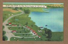 Angola,IN Indiana, Silver Lake Court, on U S 20,Restaurant and Store