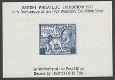 New listing Gb 1975 Bpe British Philatelic Exhibition 1925 Wembley souvenir sheet