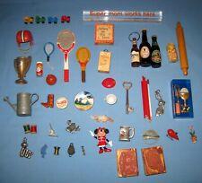 VTG Lot 50 Dollhouse Miniatures Shadowbox SPORTS/Beer/Man Zan/Animals & More!