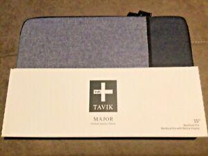 """Tavik Major 15"""" 15 Inch Designer Padded MacBook Tablet Laptop Sleeve Case - Blue"""