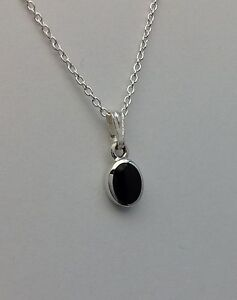 Genuine Whitby Jet and Sterling Silver  pendant jp096 Handmade in whitby