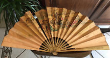 Vintage Spanish Hand Held Wooden Painted Fan - Minor Damage~*As Is