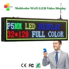 Leadleds WIFI Program LED Sign P5mm 32*128dots 7 Color Display Message Board