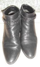 20 24/10 kämpgen stivaletti scarpe di Cuoio Numero 35 NERO TACCO 4 cm