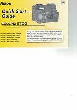 NIKON  Coolpix 5700 Coolpix5700  Quick Start Guide Englisch
