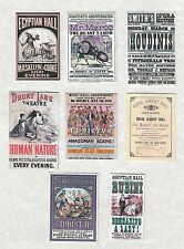 SET OF HAND-MADE DOLLS' HOUSE 1/12TH SCALE VICTORIAN THEATRE POSTERS
