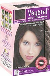 Vegetal Bio Colour, Dark Brown, 50Gram Ammonia-free-PPD-free Herbal hair colour