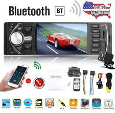 4.1'' HD 1 DIN MP5 Player Car Stereo Radio Bluetooth FM AUX USB Rear View Camera