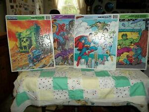 Vintage superhero puzzles--late 70's early 80's, Golden/Whitman--paper, Spiderma