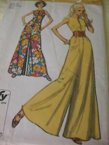 Vintage SEWING PATTERN 1970's Simplicity MISS JIFFY JUMPSUIT Front Zipper Sz 10