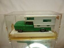 MAJORETTE 209 CAMPING CAR - GREEN + WHITE 1:80 - GOOD CONDITION IN BOX