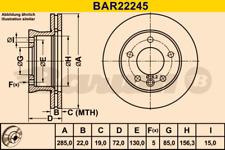 2x Bremsscheibe BARUM BAR22245 vorne für MERCEDES-BENZ
