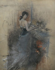 Boldini Giovanni By The Fireside Canvas 16 x 20   #4681