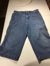 womens Gloria Vanderbilt Size 10p Denim Capri Crop Pants Drawstring Leg Z19